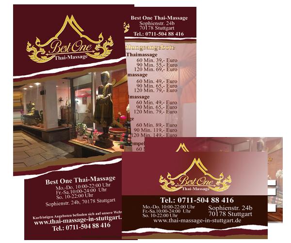 Massage Gutschein Broschüre BEST ONE Thai-Massage